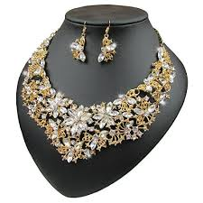 gold choker necklace sets images Gold choker necklace set jpg