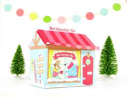 printable chocolate hut gift box christmas gift box diy