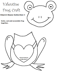 frog valentine craft for kids cutout template no words png 816