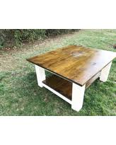 rustic square coffee table rustic wood coffee table sales deals