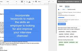 Resume On Google Docs Resume Cv Template Builder U0026 Optimizer Google Docs Add On