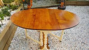 Drop Leaf Console Table Vintage Antique Oval Oak Gate Leg Table Solid Rustic Drop Leaf