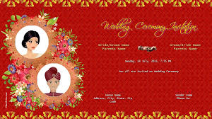 hindu wedding invitations online free wedding india invitation card online invitations
