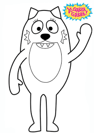 yo gabba gabba toodee coloring free printable coloring pages
