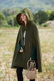 green hooded wool coat wool cloak cape cashmere women wool