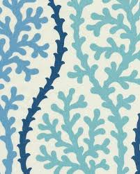 coral kelp sea shell modern bold graphic print heavy weight