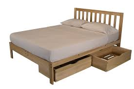 Futon Platform Bed Frame Unfinished Platform Bed With Headboard The Futon Store And
