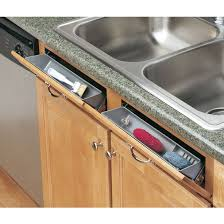 Sink Trays Tilt Out Sink Cabinet Trays And Sink Tray Organizers - Kitchen sink sponge holder