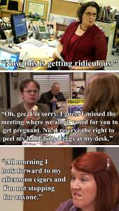 Morning Sickness Meme - 17 indignities pregnant pam suffered on the office