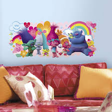 Popular Characters Murals Roommates Roommates Trolls Movie Vinyl Giant Peel And Stick Wall Decals By