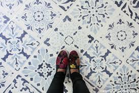 How To Tile Kitchen Floor how to stencil a tile floor in 10 steps kitchen u0026 bathroom floor