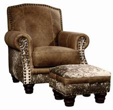 southwestern chairs and ottomans hair on hide leather chair ottoman and somwhere a vegan passes