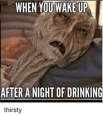 Thirsty Meme - when you wake up after a night of drinking thirsty meme on sizzle