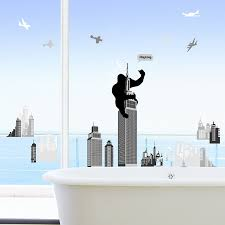 king kong empire state building mural wall stickers home art king kong empire state building mural wall stickers home art deco wall decals amazon co uk kitchen home