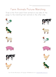 farm animals for preschoolers farm animals worksheet picture