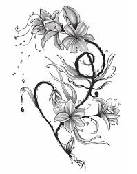 tiger lily flower drawing water lilies tattoos designs bouquet