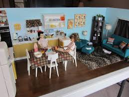 Barbie Kitchen Furniture Completed Kitchen U0026 Living Room Diorama It Is Done This U2026 Flickr