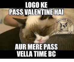 Mere Cat Meme - logo ke pass valentine hai akchod bakchod billi aur mere pass vella