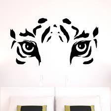 stickers muraux chambre fille ado stickers muraux animaux sticker les yeux de tigre ambiance