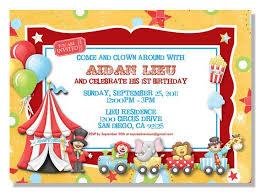 how to create circus birthday invitations ideas all invitations