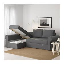 Ikea Chaise Lounge Backabro Slaapbank Met Chaise Longue Nordvalla Donkergrijs