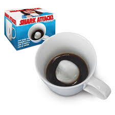 shark attack porcelain coffee mug in gift box funny novelty mugs
