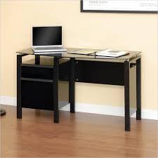 Small Glass Top Computer Desk Studio Rta Glass Top Computer Desk In Black