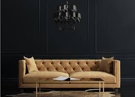 Interiordesignsofawithblackchandelierandbackgroundwalljpg - Sofa interior design