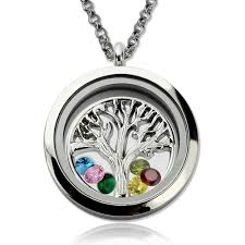 floating locket necklace images Stainless steel family tree floating lockets mother 39 s day necklace jpg