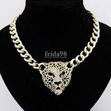 big chain necklace images Wholesale big gold necklace for women animal head necklaces jpg