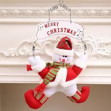 snowman door decorations merry christmas wreath navidad santa claus snowman door