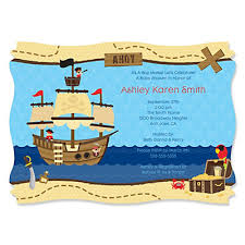 it s a boy mates pirate personalized baby shower invitations
