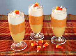 pumpkin candy corn candy corn parfaits