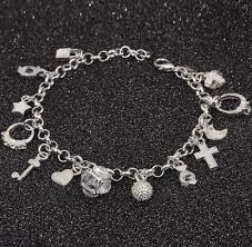 silver plated charm bracelet images Adrien 39 s shop silver plated charm bracelet png