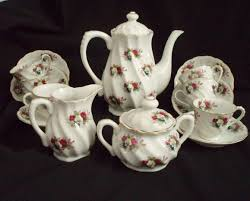 roses tea set vintage ucagco ceramic tea set demitasse cups roses
