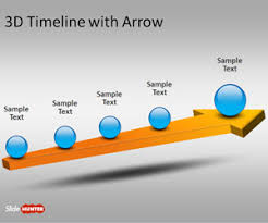 3d templates for powerpoint free 3d timeline template for powerpoint with arrow free
