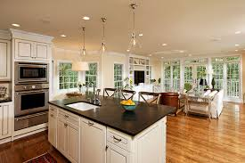decorating ideas for open living room and kitchen kitchen living room design onyoustore com