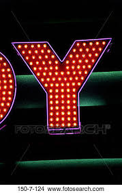 stock photo of type letters las vegas light marquee light