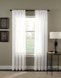 White Sheer Curtains 4 Solid White Sheer Curtains Fully Stitched