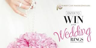win a wedding ring win your wedding rings robert cliff master jewellers robert