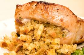 slow cooker thanksgiving stuffing slow cooker pork chops with fruity stuffing recipe sparkrecipes