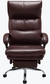 top leather office recliner w footrest