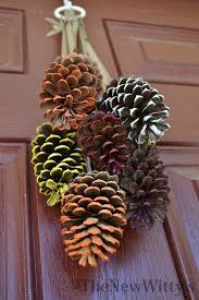 the new wittys fall decor a new pinecone diy