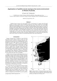 applications of satellite remote sensing to the marine environment