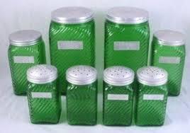 vintage glass canisters kitchen glass kitchen canister sets foter