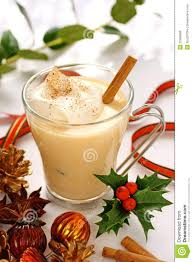 martini eggnog eggnog at christmas time royalty free stock photos image 22398938
