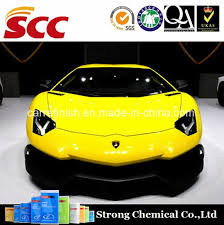 china scc manufacture grinice 1k metallic car paint lemon yellow