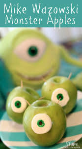 halloween treat recipe mike wazowski monster apples halloween