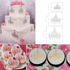 Chandelier Cake Stencil Cake Decorating Chandelier Stencil Thesecretconsul Com