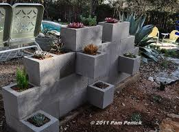 make a cinderblock wall planter diggingdigging